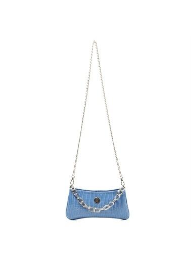 TH Bags   Kadın Omuz Çantası Th053 Mavi